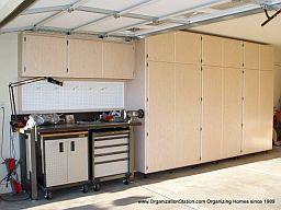 example of a work bench area that goes with your garage or office cabinets